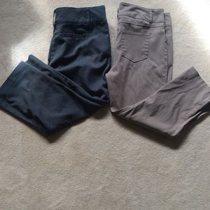 Maurice's pants 2 pair Capri length